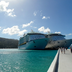 Picture of our ship docked