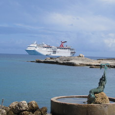 Anchored at Little Stirrup Cay