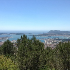 View from Mont Faron in Toulon, France