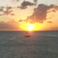 Sunset from St. Thomas