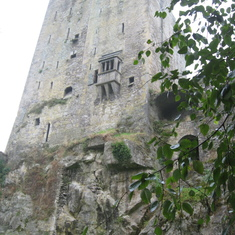 Blarney Castle, stone is on top, see folks on castle floor in previous picture.