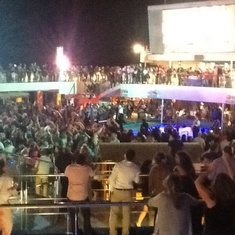 Nothing like a New Year's Eve celebration on the back of a cruise ship
