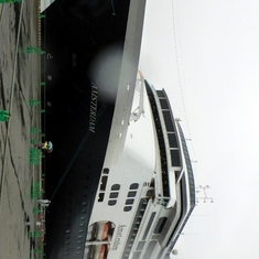 Our ship in Fukuoka, Japan Substitute port for Tokyo