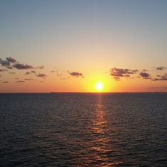 Sunrise in the Caribbean