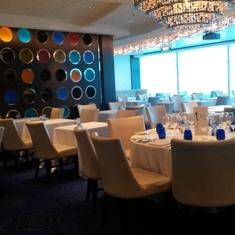 Blu Restaurant, Aqua Class dining aboard Celebrity Silhouette