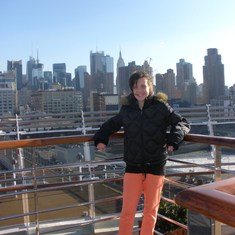 Leaving New York on Queen Victoria - 2010