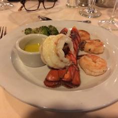 Lobster in main dining room