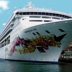 Sky at her berth, Prince George Wharf, Nassau