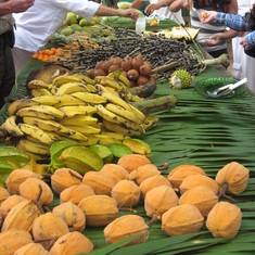 Bounty from the land, at village market on Amazon