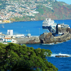 Funchal, Madeira - Rotterdam, docked in Funchal (Madeira), Portugal.