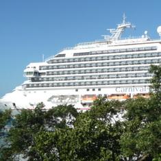 Liberty docked at Mahogany bay,Roatan