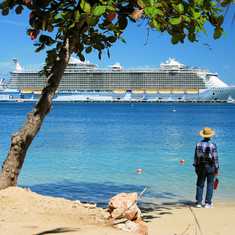 From the beach at Labadee,