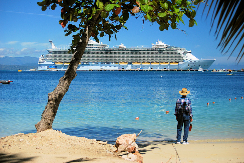 From the beach at Labadee