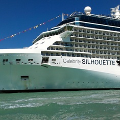 Celebrity Silhouette docked in Venice