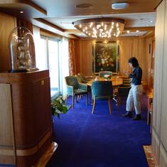 View Towards Dining Room in Pinnacle Suite, Cabin 7001, Zaandam