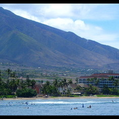 Surfers in Lahaina