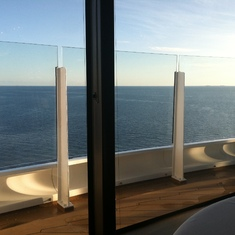 View from our table at Remy on Disney Dream
