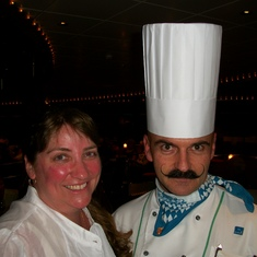 Amy with the greatest chef!