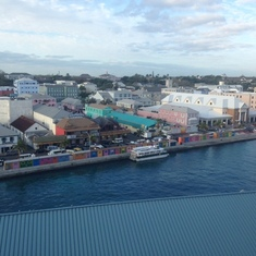 Nassau port from room window