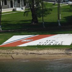 US Coast Guard Sign on Lawn