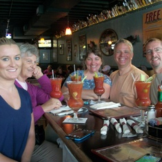 At Humpy's in Anchorage – love the Bloody Mary Bar and halibut tacos
