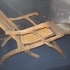 Only surviving original Titanic deck chair, Halifax museum