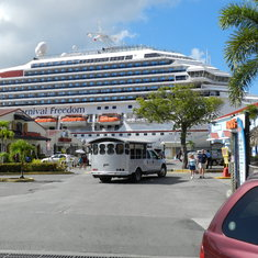 Our ship in St. Thomas