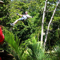 Roatan, Honduras Ziplinning