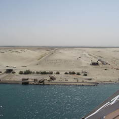Suez Canal Transit - Transiting the Suez Canal on the Prinsedam