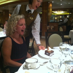 Dana gets surprised with a cake on Royal Princess