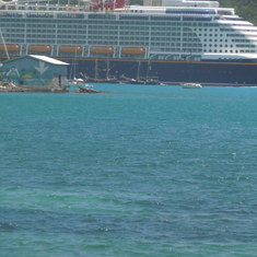 Disney Fantasy at port in St Thomas