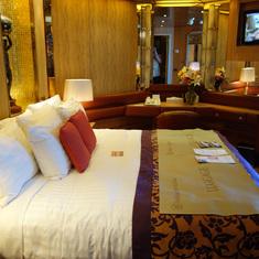 Bedroom in Pinnacle Suite, cabin 7001