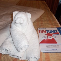 First towel animal on the cruise!