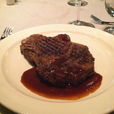 Steak at Crown Grill on Royal Princess