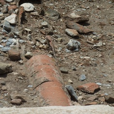 Kusadasi (Ephesus), Turkey - Pipe that carried water still intact