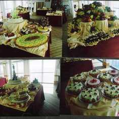 Part of the deserts offered on the buffet on the top deck.