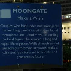 The Moongate sign