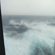 Stormy seas on our way to Santorini
