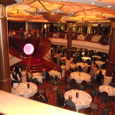 Main dining room. Upper level is for select dining