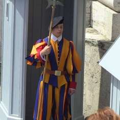 Civitavecchia (Rome), Italy - Swiss Guard at the Vatican
