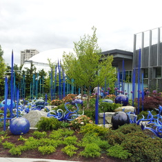 Seattle, Washington - Just one of the gardens at the Chihuly Glass Museum