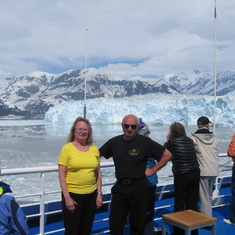 Approaching Hubbard Glacier, we spent hours here and very close, don't believe a