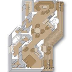 Floor Plan, Penthouse Suite, Vista & Signature Class HAL Ships,  inc Westerdam