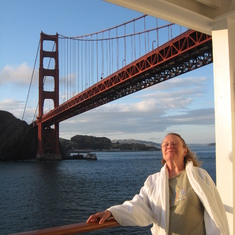 "Just passed under the Golden Gate. On our way to the ""Last Frontier"" Alaska. Two"