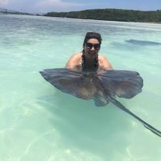 Great  Stirrup Cay --Stingray joy :)