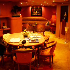 View across the Dining Room towards the Living Room, Penthouse Suite,  Westerdam