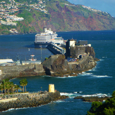 Funchal, Madeira - View of Westerdam from Reid's Palace Hotel