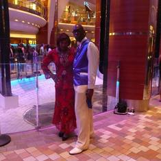 Allure of the Seas. Me and Nadine