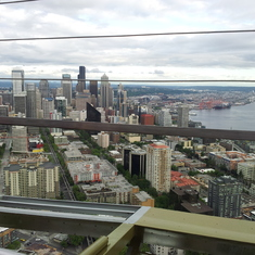 Seattle, Washington - view of Seattle from the top of the Space Needle