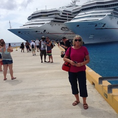 Docking at Cozumel